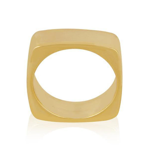 Sabyavi Ring Gold Square Band Sterling Silver