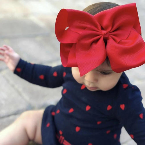 Mega Baby Headband - Candy Cane Red