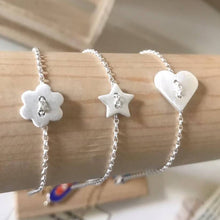 Load image into Gallery viewer, Pure Silver Star Bracelet