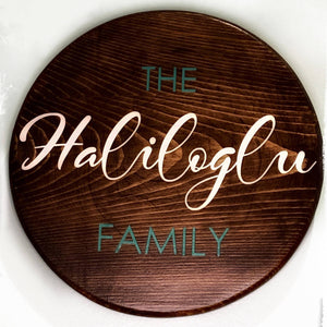 Family Name Sign - Round Large