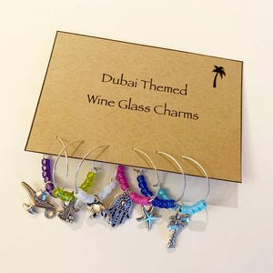 Dubai Themed Glass Charms