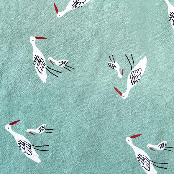 RUSTIC COTTON SALINAS BIRDS GREEN
