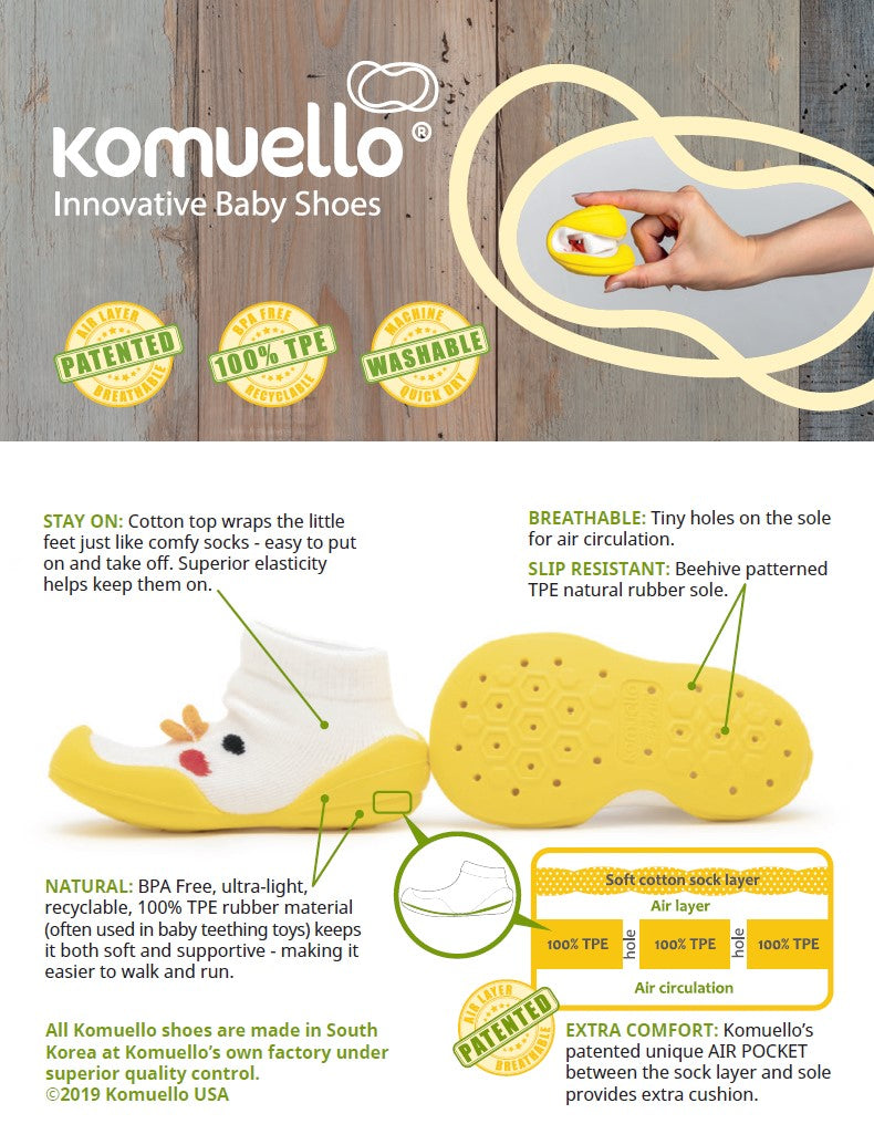 Komuello's patented innovation