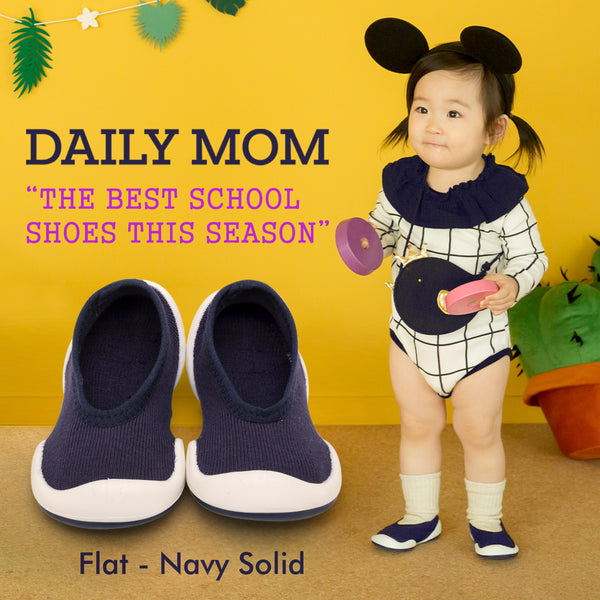 Flat - Navy Solid
