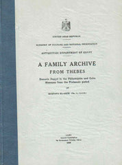 Mustafa El-Amir, A Family Archive from Thebes, Demotic Papyri in the Philadelphia and Cairo Museum from the Ptolemaic Period, Cairo 1959