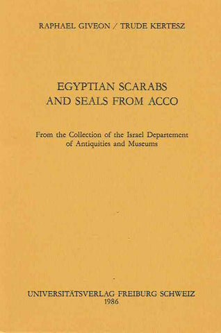 Egyptian Scarabs and Seals from Acco
