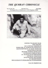 The Qumran Chronicle, Vol. 13, No. 2/4, The Enigma Press, Krakow 2006