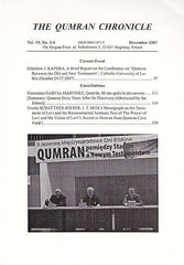 The Qumran Chronicle, Vol. 15, No. 3/4, The Enigma Press, Krakow 2007