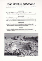 The Qumran Chronicle, Vol. 19, No. 3/4, The Enigma Press, Krakow 2011