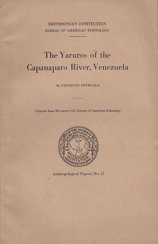 Vincenzo Pertullo, The Yaruros of the Capanaparo River, Venezuela, Anthropological Papers, No. 11, Smithonian Institution Bureau of American Ethnology, United States Government Printing Office, Washington 1939