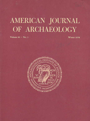 American Journal of Archaeology,Vol. 82, no. 1, Winter 1978
