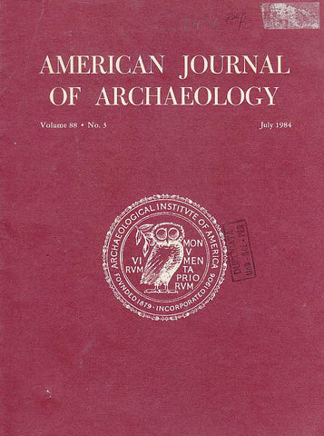 American Journal of Archaeology ,Vol. 88, no. 3, July 1984
