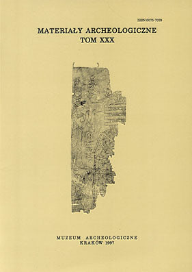 Materialy Archeologiczne, vol. 30, 1997