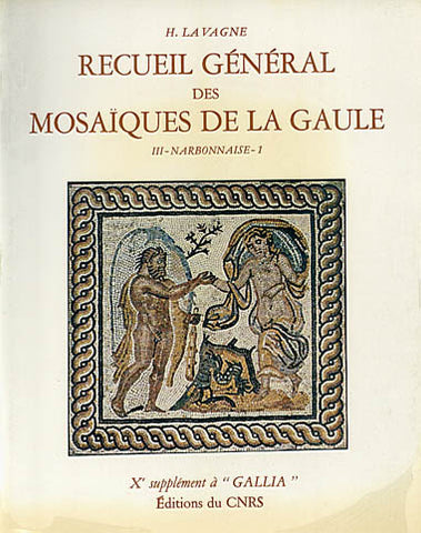 "H. Lavagne, Recueil general des mosaiques de la Gaule, III- Narbonaise-1, Xe supplement a ""Gallia"", Editions du CNRS, Paris 1979"