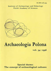 Archaeologia Polona vol. 34:1996, Special Theme: The Concept of Archaeological Cultures, Institute of Archaeology and Ethnology Polish Academy of Sciences, Warsaw 1996