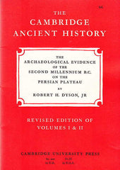 Robert H. Dyson jr, The Archaelogical Evidence of the Second Millenium B.C. on the Persian Plateau, Revised edition of Volumes I & II, The Cambridge Ancient History 66, Cambridge University Press 1968