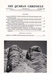 The Qumran Chronicle, Vol. 22, No. 1-4, December 2014, The Enigma Press, Krakow 2015