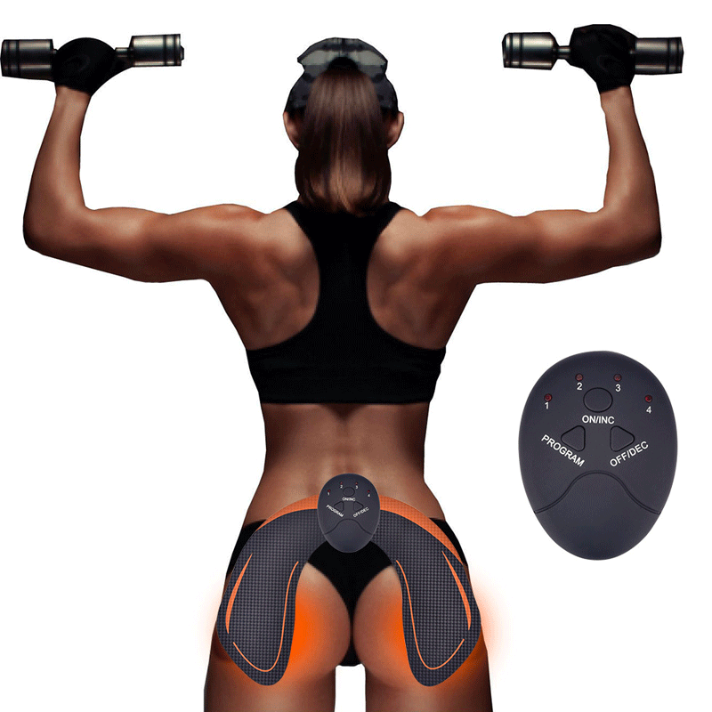EMS Hip Trainer Muscle Stimulator ABS Fitness Buttocks Butt Lifting Buttock Toner Trainer Slimming Massager Unisex - Deals2please