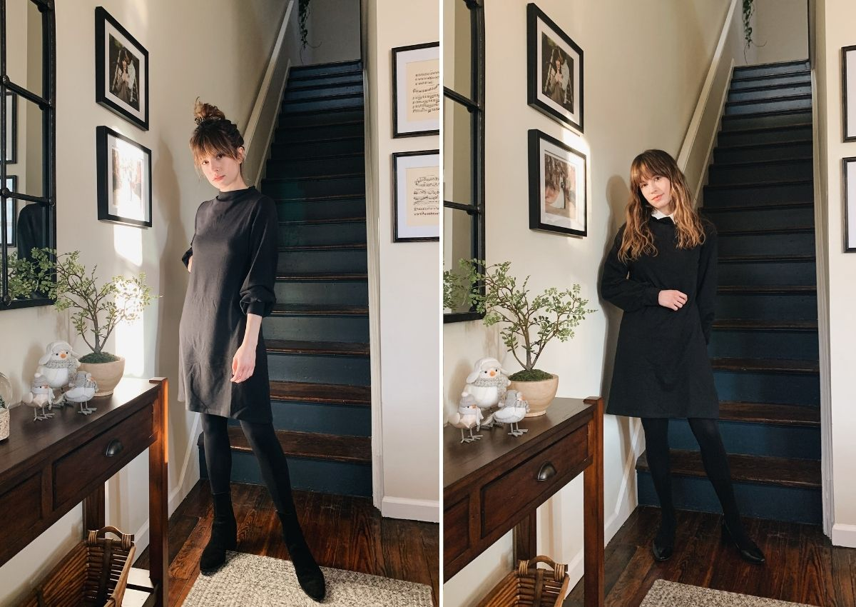 how to style leggings with a dress