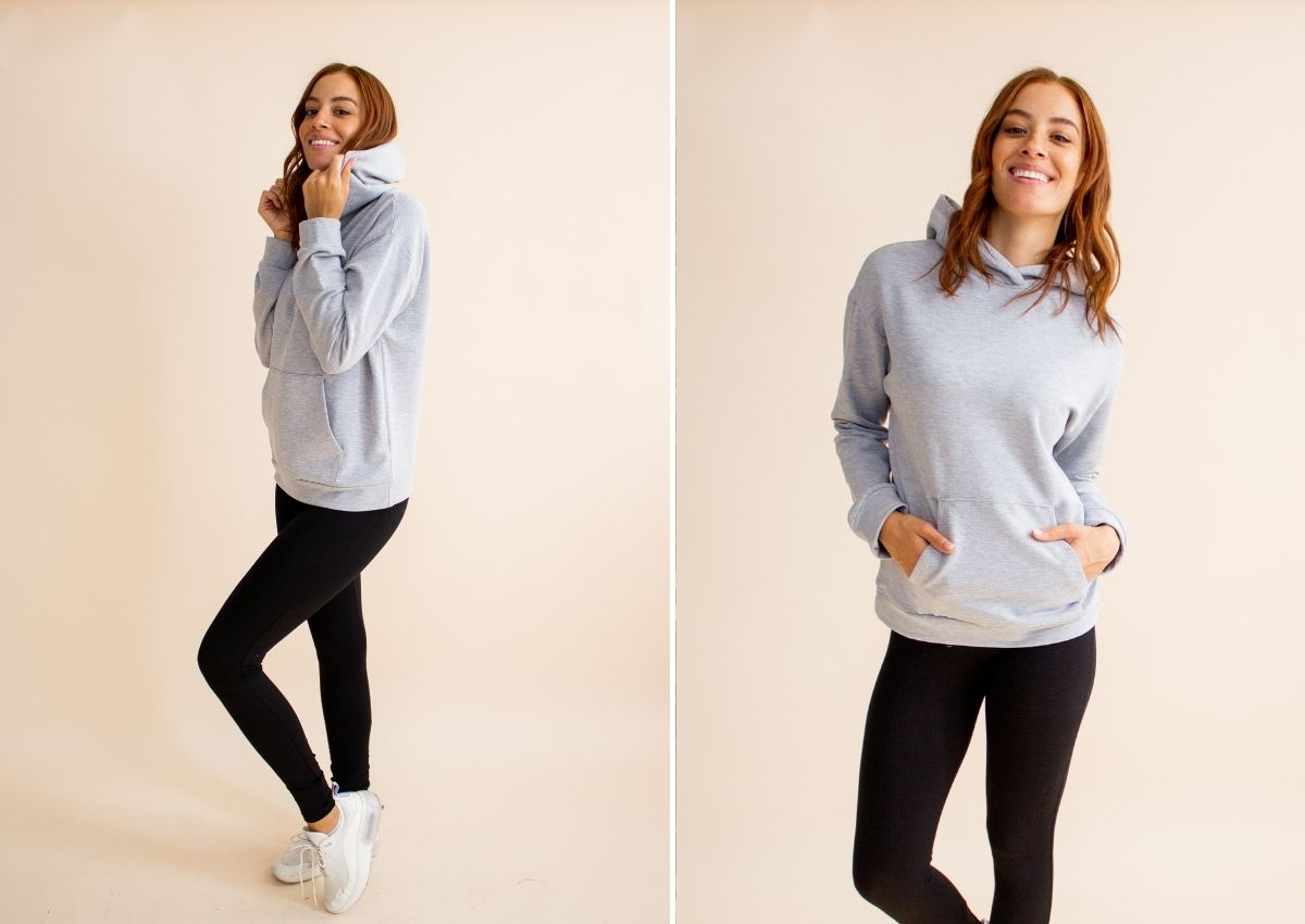 how to style leggings with a hoodie