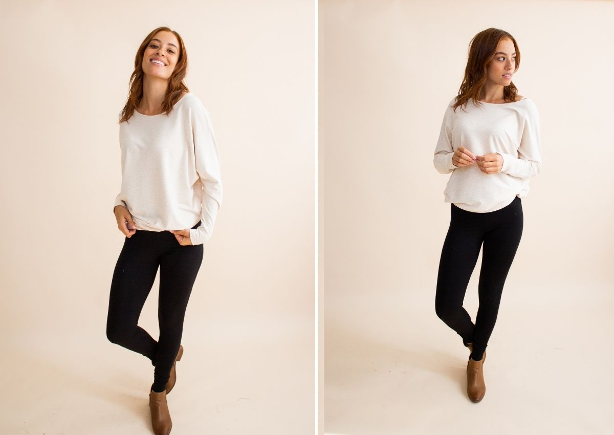 how to style leggings with a long shirt