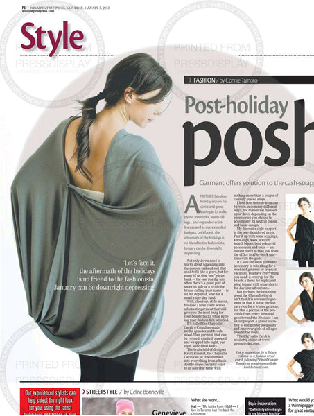 Winnipeg free press style chrysalis cardi encircled