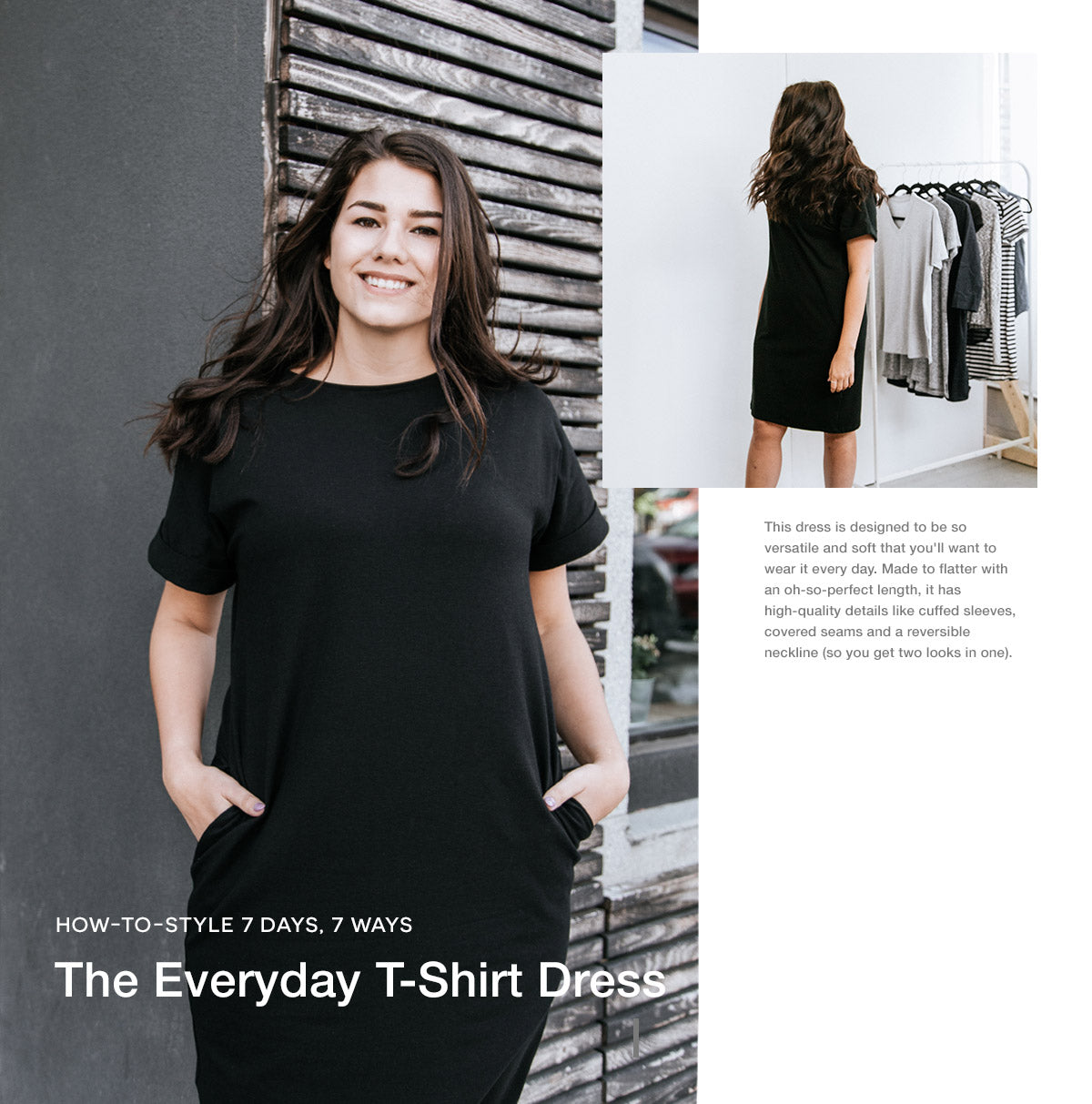 d9e2e03f962 Style the Everyday T-Shirt Dress for every day of the week by wearing it  alone, changing up the accessories, or by layering a cardigan, blazer, ...