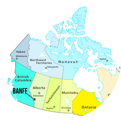 Banff Alberta Map Encircled
