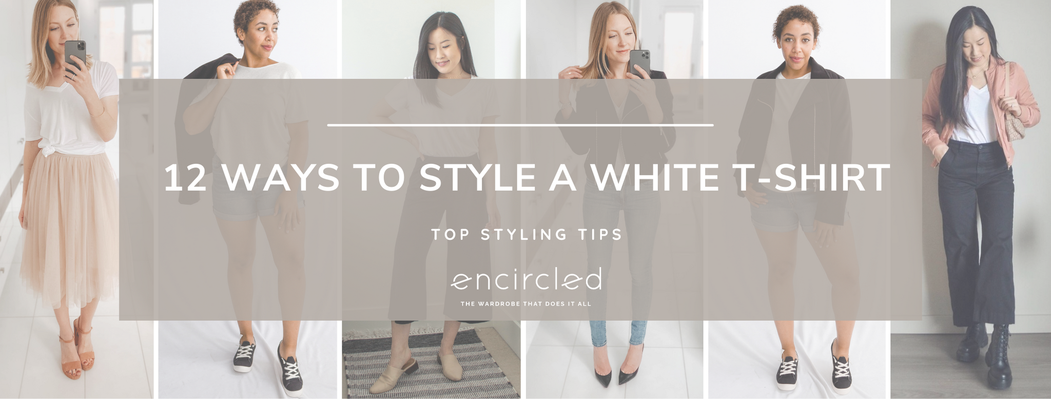 12 ways to style a white t-shirt