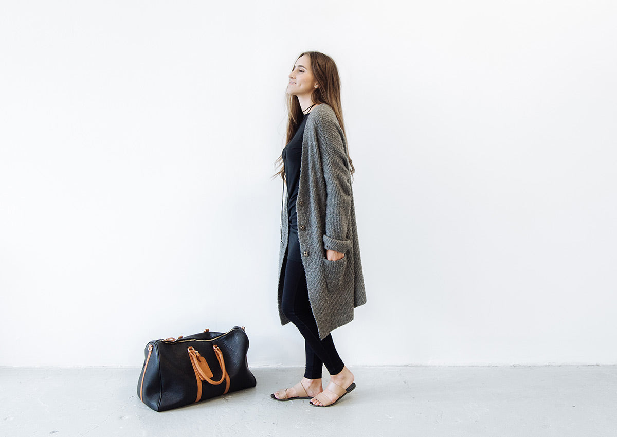 Minimalist dress for the everyday traveler. Ethically made with sustainable and eco friendly materials.