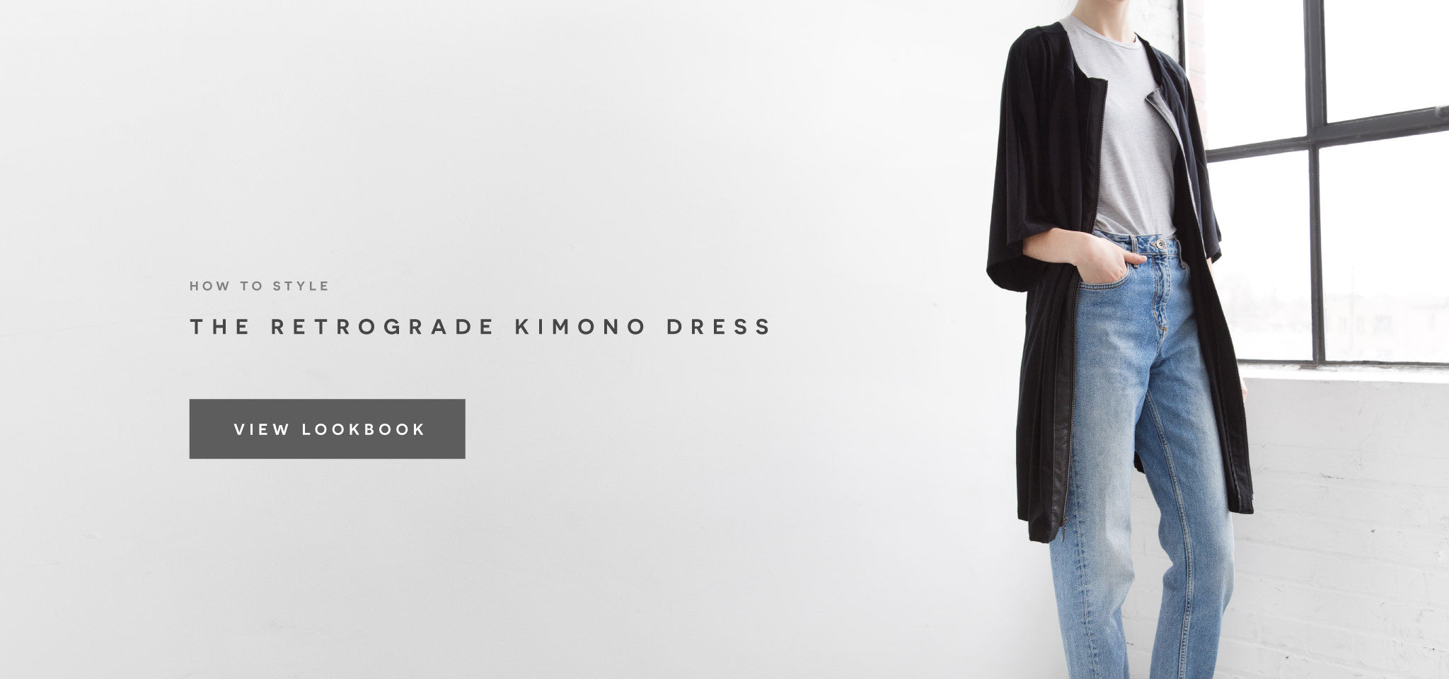 how to style the retrograde kimono for a casual and dressed up look for work and for going out