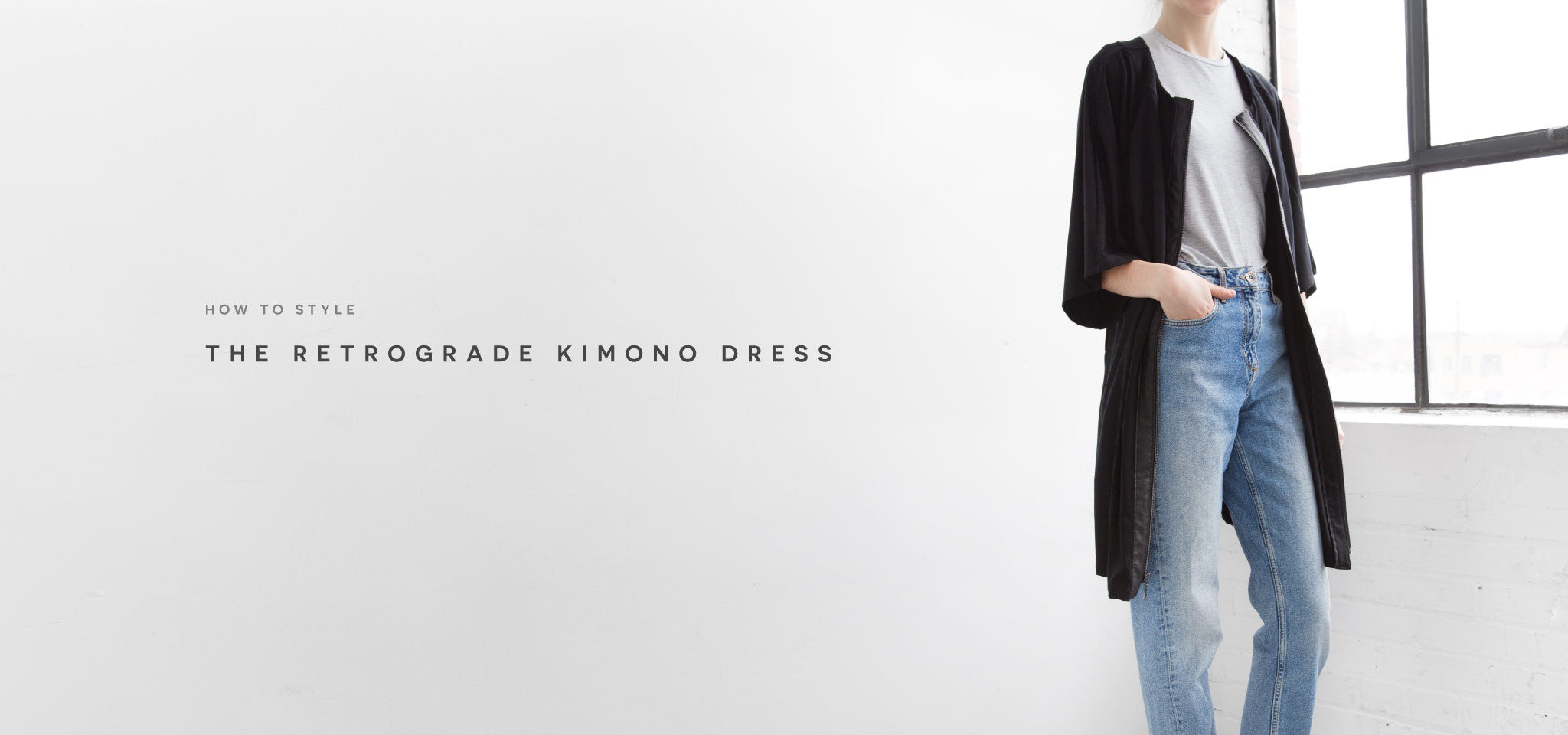 How to style the Retrograde Kimono Dress for a capsule wardrobe