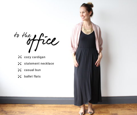 maxi dresses wear to work