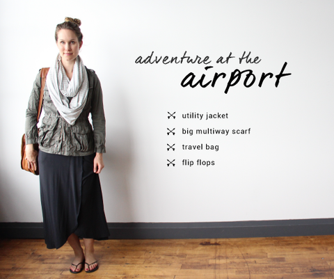 airport outfit maxi dress