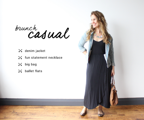 brunch look maxi dress