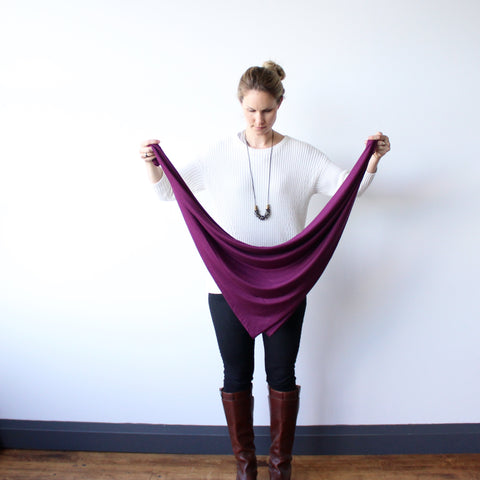 How to Tie a Blanket Scarf. Encircled creates versatile minimalist clothes with the everyday traveler in mind. Each piece is ethically made, out of sustainable and eco friendly materials.