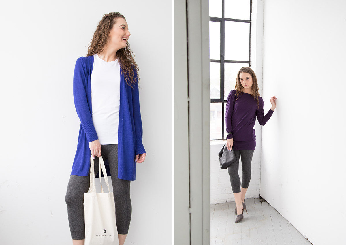the minimalist crop legging styled