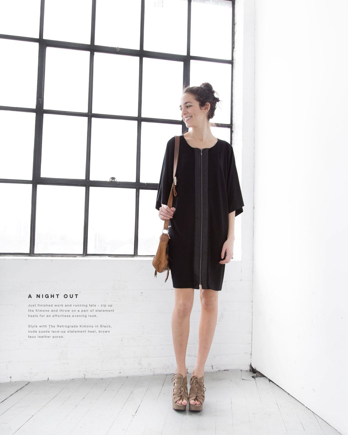 The retrograde kimono dress for a casual night out