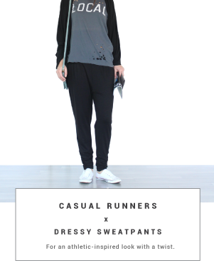 runners dressy sweatpants