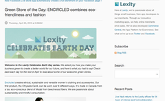 lexity earth day green store of the day encircled