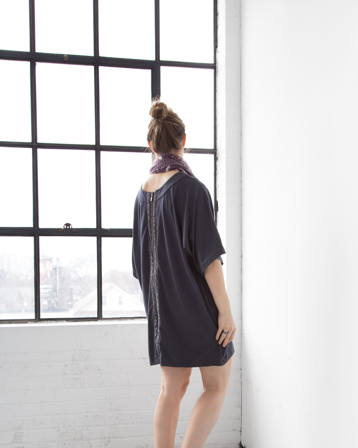 Minimalist Kimono for the Everyday Traveler. Ethically made in canada with sustainable and eco friendly materials.