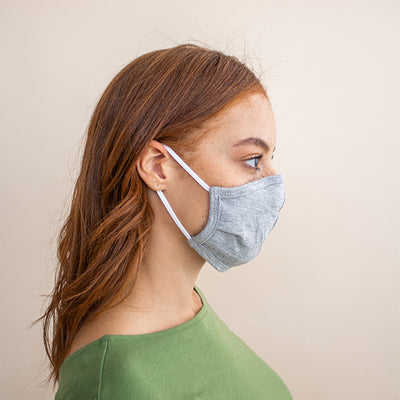 Donate a 5-pack of Non-Medical Organic Cotton Face Masks