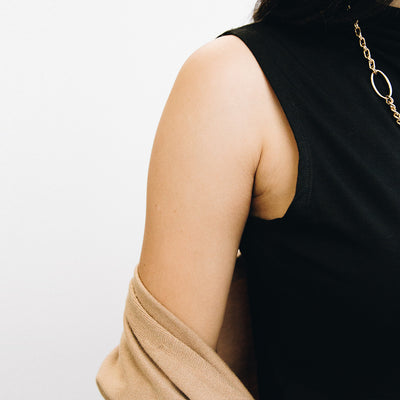 The Minimalist Sleeveless Mock Neck