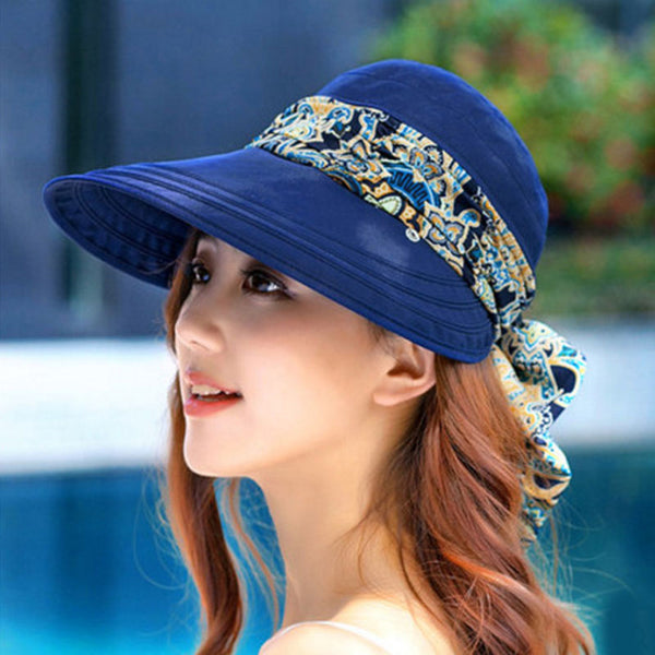 2019 Summer Beach Sun Visors Collapsible Anti-UV Hat - Phantom Attraction
