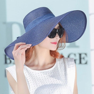 2019 Elegant Style Large Brim Straw Hat - Phantom Attraction