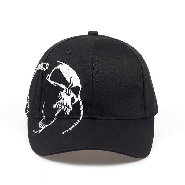 2019 Unisex 100% Cotton Skull Embroidery Snapback Cap - Phantom Attraction