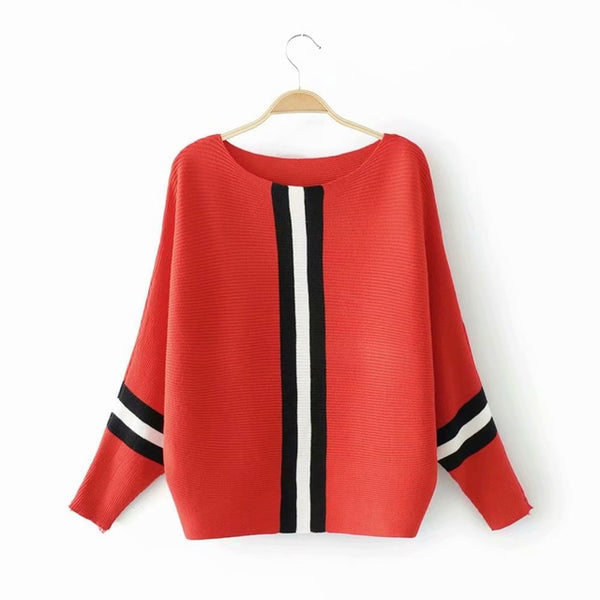 2019 Full Batwing Sleeve Knitted Casual Pullovers - Phantom Attraction