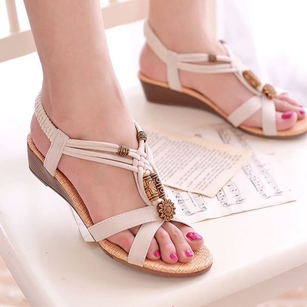 2019 Rome Style Gladiator Sandals With Wedges - Phantom Attraction