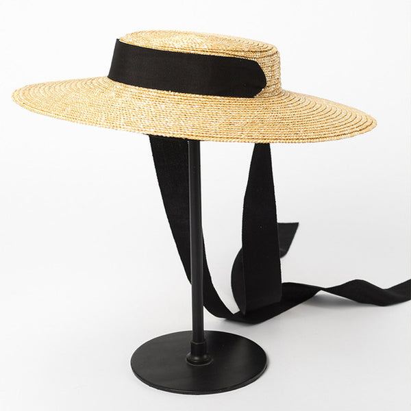2019 Wide Brim Boater Straw Hat - Phantom Attraction