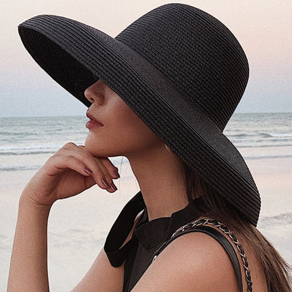 2019 New Summer Solid Plain Elegant Wide Brim Hat - Phantom Attraction